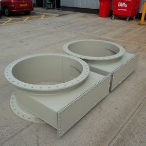 Two no scrubber tower mist eliminator sections.