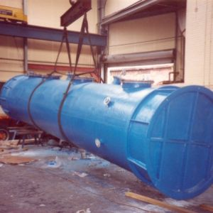 Fume scrubber tank section in Polypropylene/G.R.P